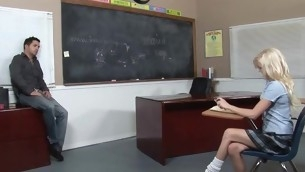 Kinky teacher makes schoolgirl fuck with him be advantageous to good marks