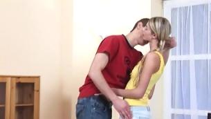 tenåring blowjob blonde hardcore