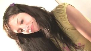 tenåring blowjob brunette handjob